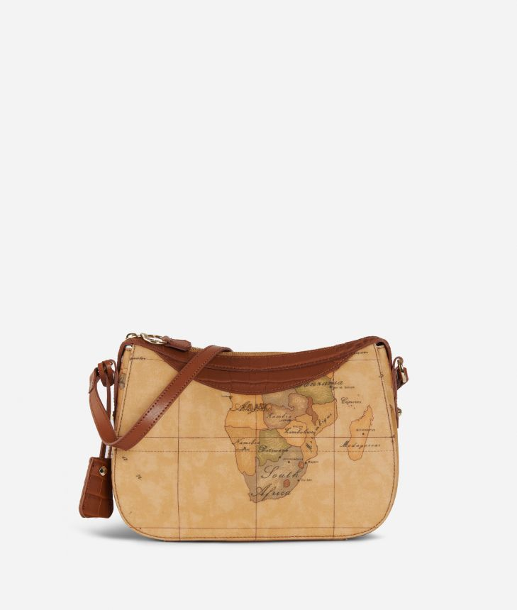 Charme Geo Crossbody Bag Brown,front