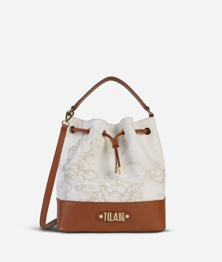 Jour Bag Geo White Bucket Bag,front