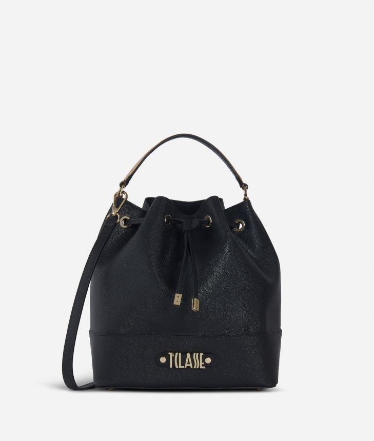 Jour Bag Bucket Bag Black,front