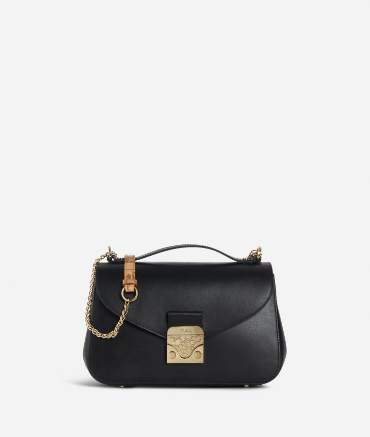 Jolie Bag Tracolla in pelle Nera,front