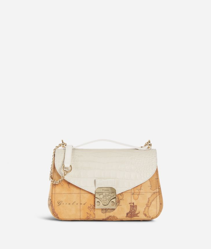 Jolie Bag Tracolla Bianca e Geo Classic ,front