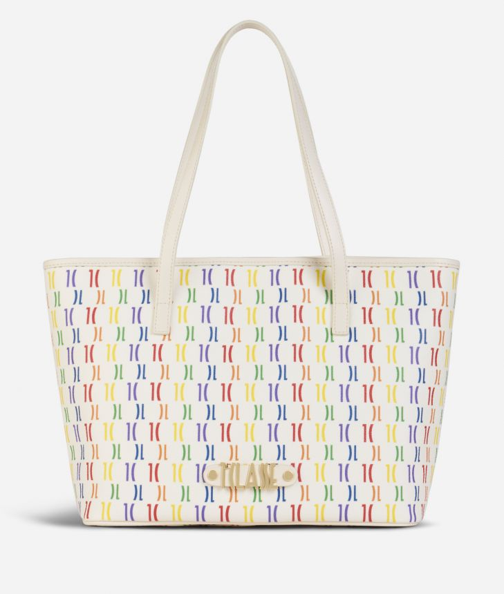 Monogram Rainbow Borsa shopping media Multicolor,front