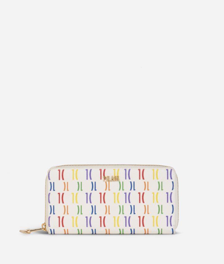 Monogram Rainbow Portafoglio ziparound Multicolor,front