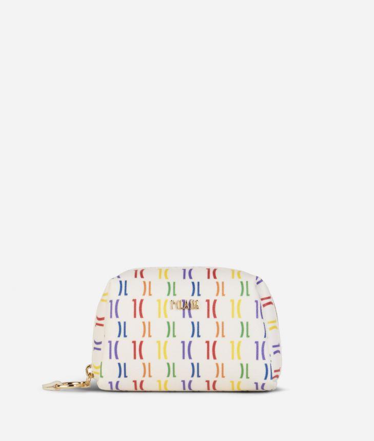 Monogram Rainbow Beauty case Multicolor,front