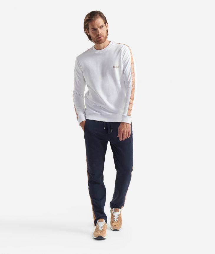 Jogging pants with drawstring closure Blue,front