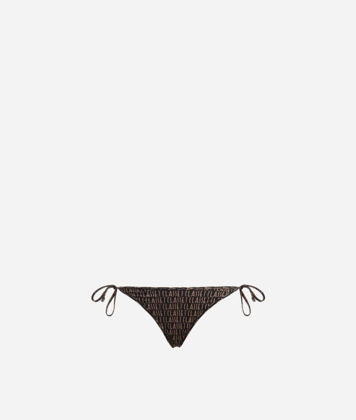 Bikini bottom with Logomania print Black,front