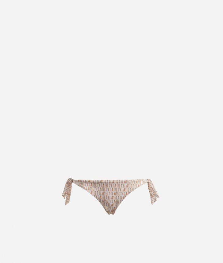Bikini bottom with Logomania print White,front