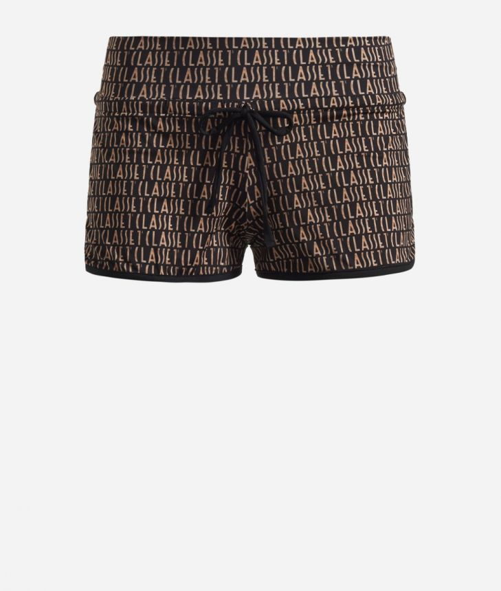 Lycra shorts with Logomania print Black,front