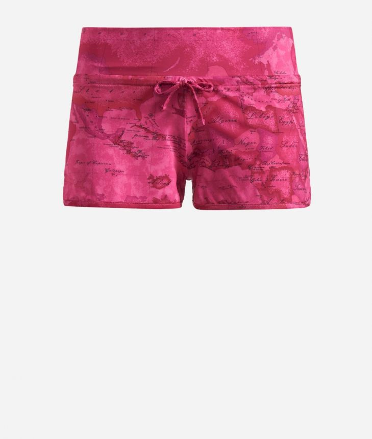 Lycra shorts with Geo Color print Pink,front