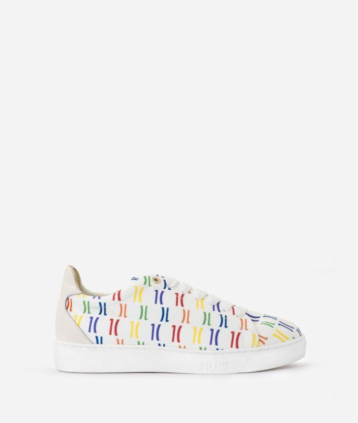 Monogram Rainbow Sneakers Multicolor,front