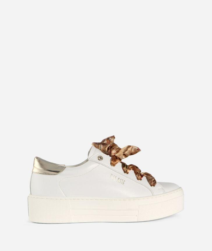 Sneaker in pelle Bianche,front