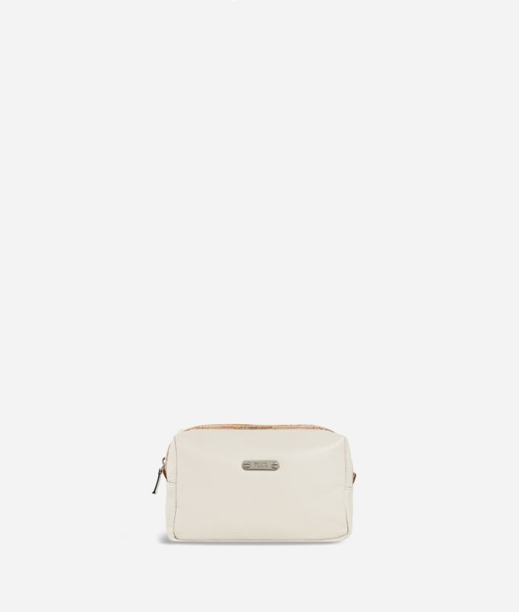 Square beauty case Geo Classic fabric trims,front