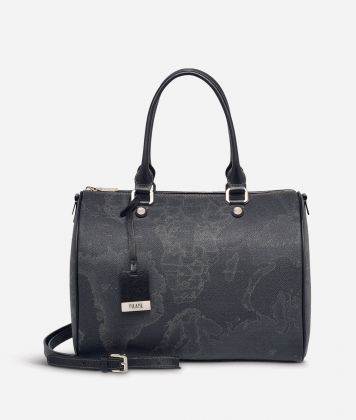 Geo Black Medium Boston bag