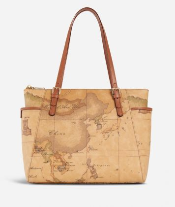 Geo Classic Shopping bag with buckles