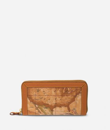 Geo Soft Large zipped wallet