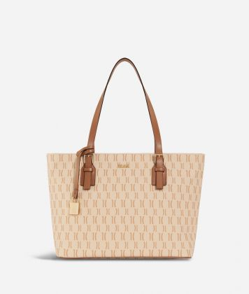 Monogram Medium Shopping Bag Cream