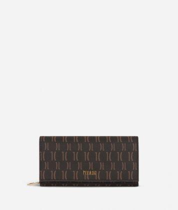 Monogram Woman Wallet Dark Buff