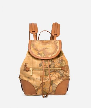 Geo Classic Backpack with leather corners