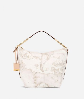 Geo White Medium shoulder bag