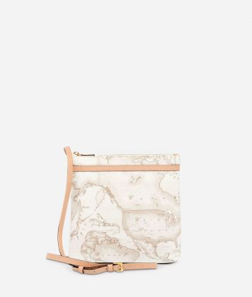 Geo White Large crossbody bag