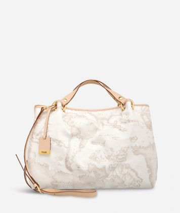 Geo White Large handbag