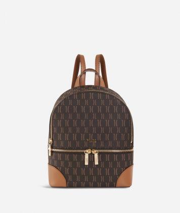 Monogram Mini Backpack Dark Buff