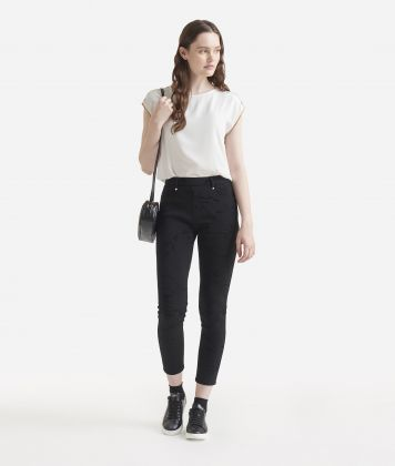 5-pockets jersey trousers Black