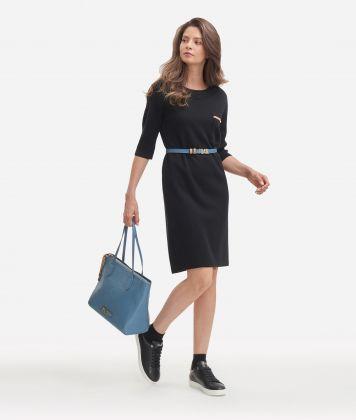 Wool blend dress Black
