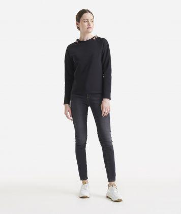 Fleece sweatshirt Black