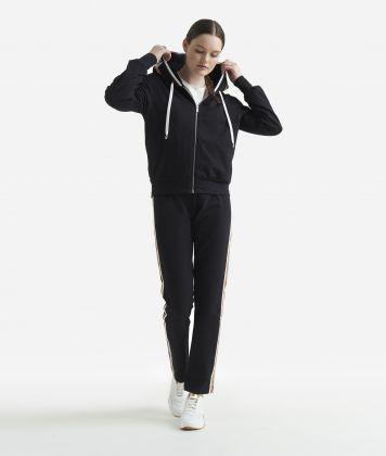 Basic sweatshirt with zip Black