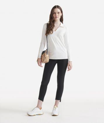 Long sleeves polo White
