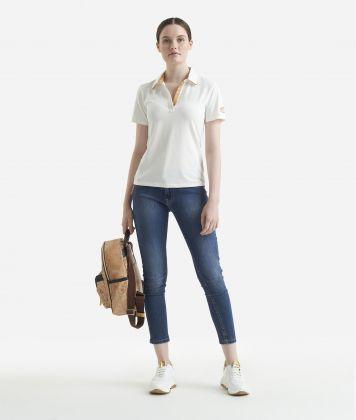Short sleeves polo White