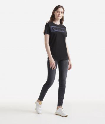 Maxi logo T-shirt Black