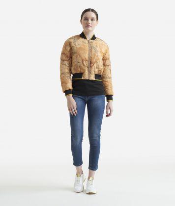 Padded blouson jacket Geo Classic