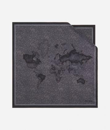 Geo Color print foulard 70 x 70 Grey