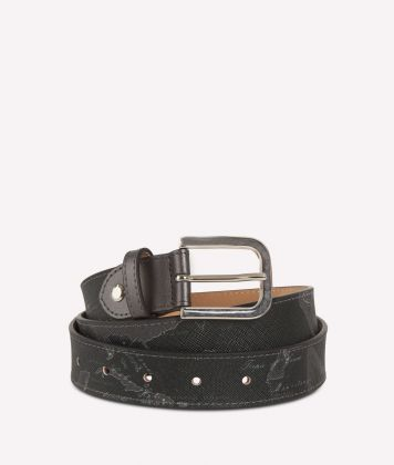 Geo Silver Night Belt Black