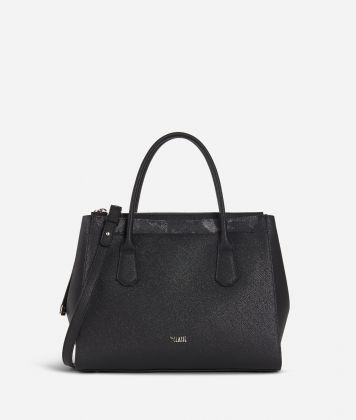 Sky City Medium handbag Black and Geo Night Black