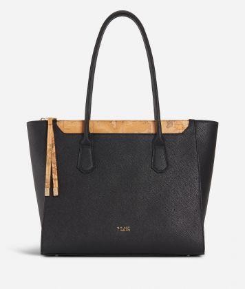 Sky City Shopping Bag Black and Geo Classic Black