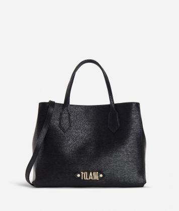 Winter Smile Medium Handbag Black