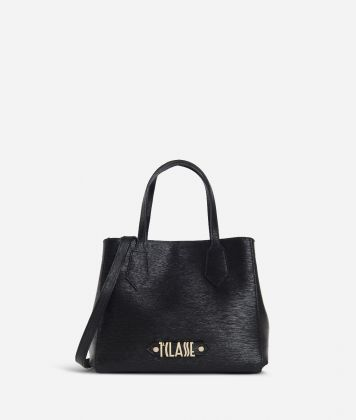 Winter Smile Small Handbag Black