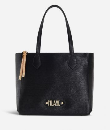 Winter Smile Shopping bag Black