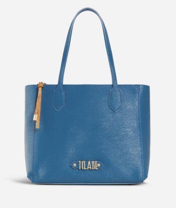 Winter Smile Shopping bag Blue