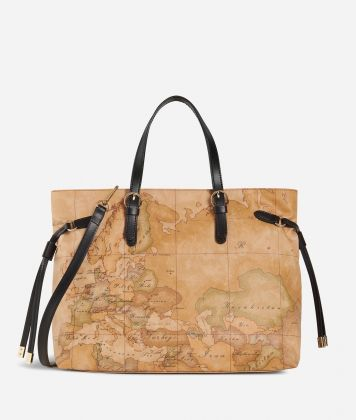 Soft Wood Medium Handbag Black
