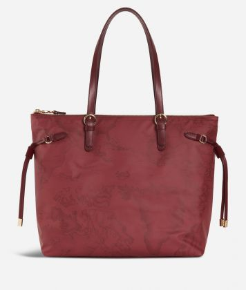 Soft Wood Geo Bordeaux Shopping bag Cabernet
