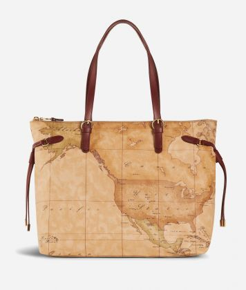 Soft Wood Geo Classic Shopping bag  Cabernet