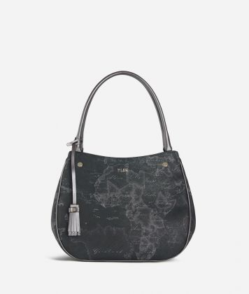 Geo Silver Night Hobo bag Black