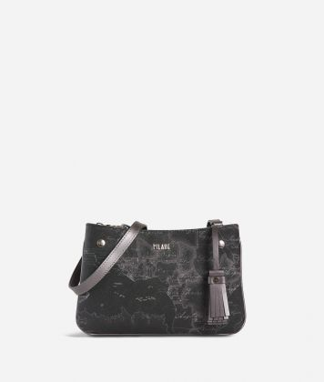 Geo Silver Night Crossbody bag Black