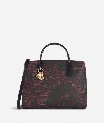 Geo Rosewood Medium Handbag Cabernet