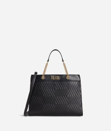 Starlight Line Medium Handbag  Black