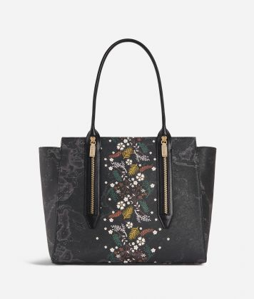 Autumn Night Shopping bag Black